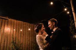 Zdjęcie Pary Młodej podczas wesela w stodole zwanej Chata za Wsią w Nowym Skaszewie