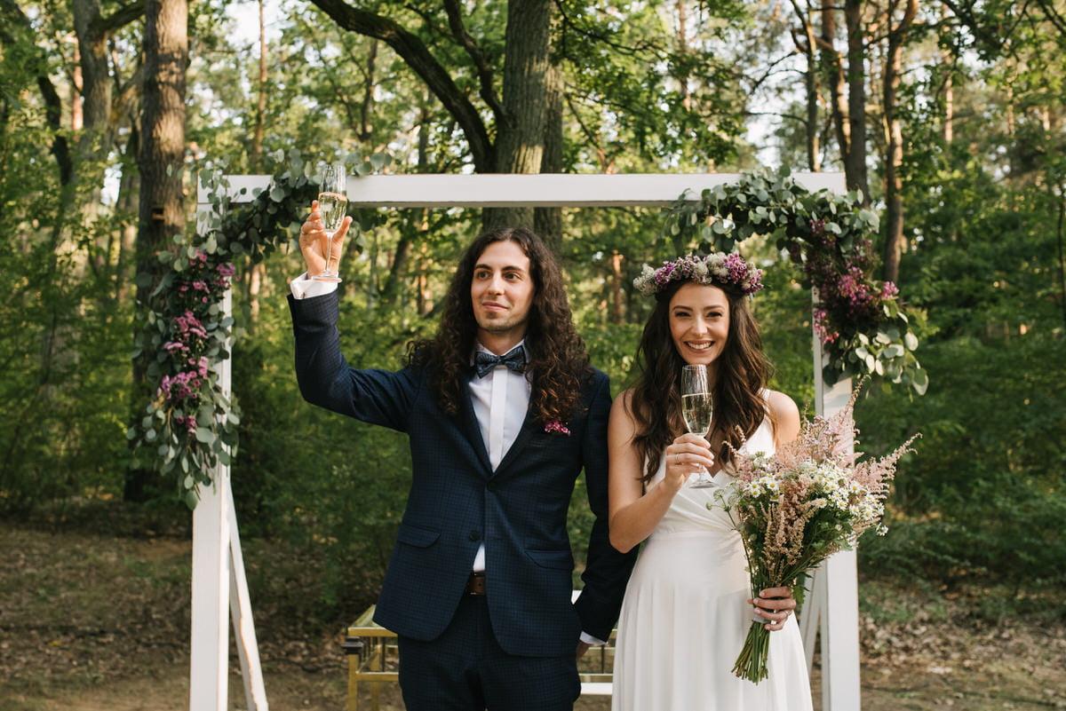Fotografia ślubna i okolicznościowa wykonana na ślubie plenerowym w okolicy Warszawy