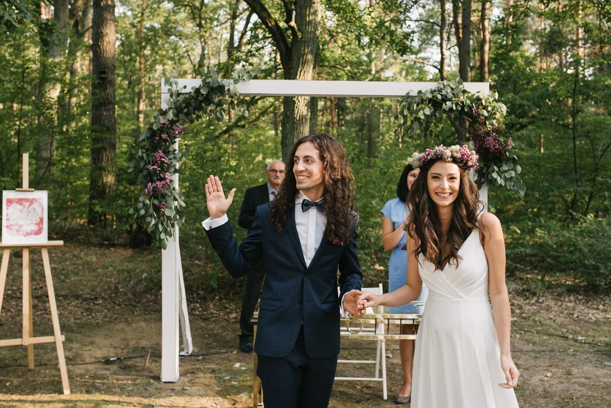 rustykalny ślub plenerowy