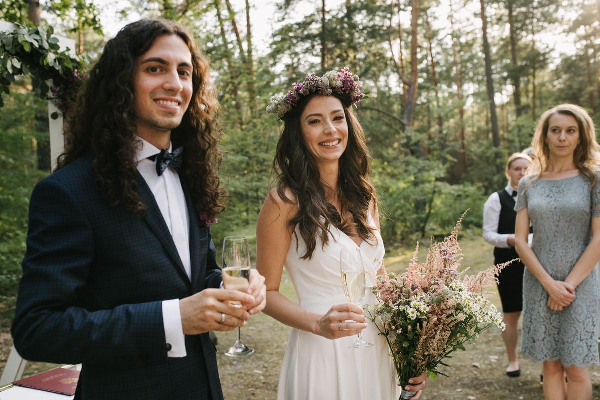 ślub plenerowy w Las Woda pod Warszawą