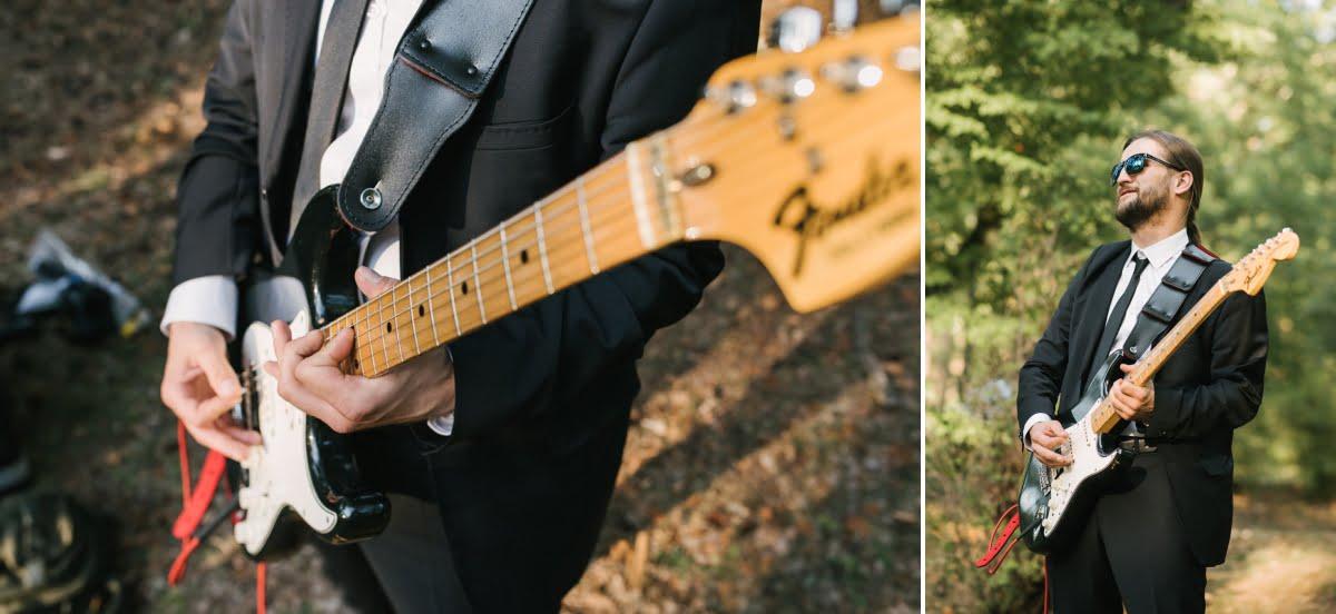 marsz weselny na gitarze elektrycznej