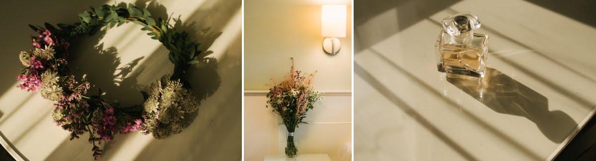 detale ślubne - bukiet i wianek ślubny