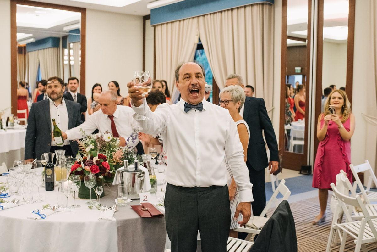 toasty weselne Las WOda