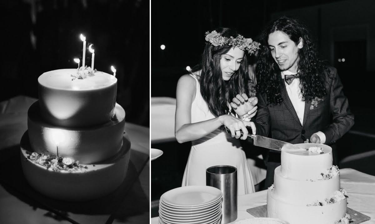 krojenie tortu na weselu w Las Woda Wilga pod Warszawą