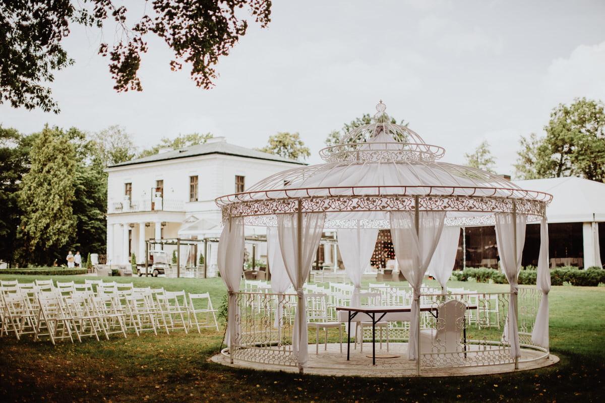 altana ślubna Pałac Rozalin - eleganckie wesele Mazowieckie