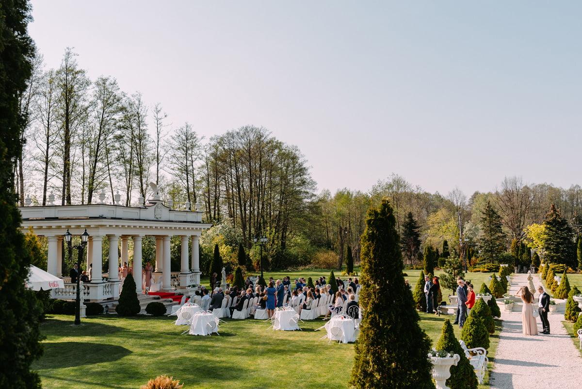 pałac Otrębusy - elegancki ślub plenerowy Mazowieckie